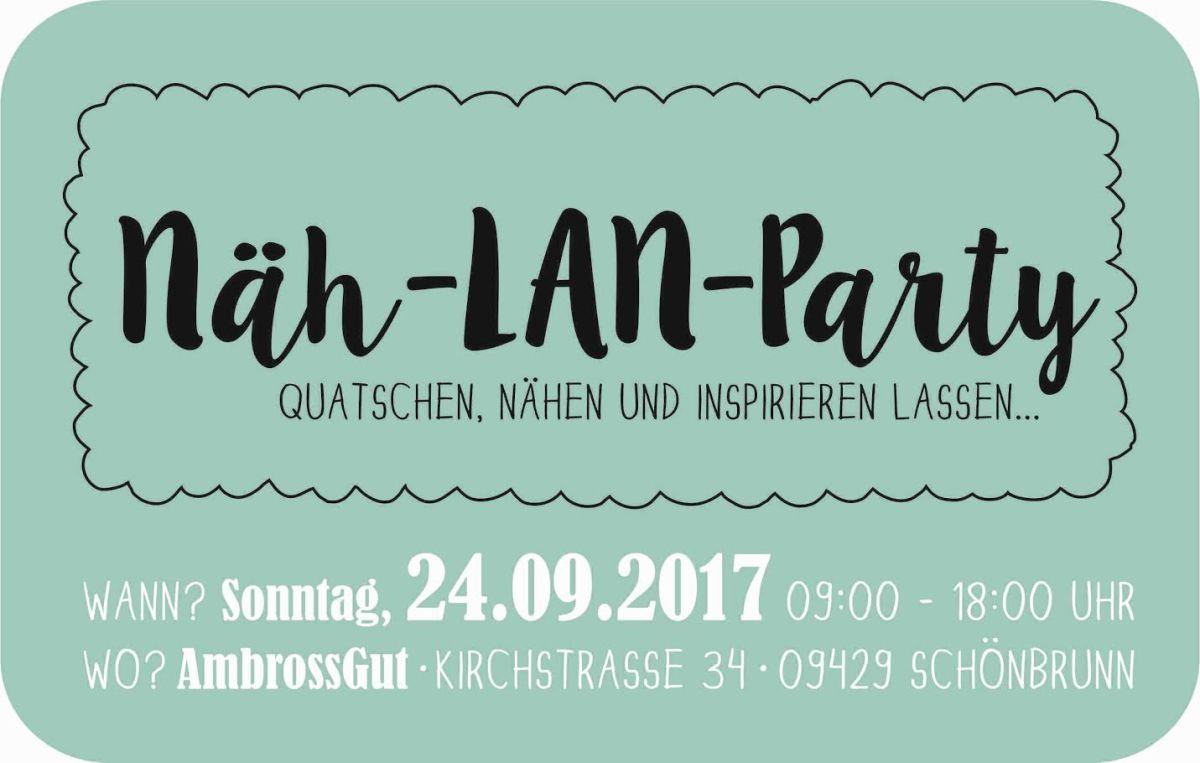 ☝️ NÄH-LAN-Party im Erzgebirge